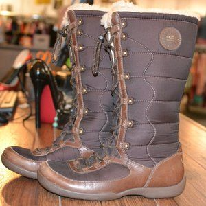 Ugg Boots Tall Lace Up Fur Lined Puffer UGG